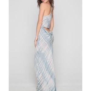Acacia rayon maliko dress shibori M NWT